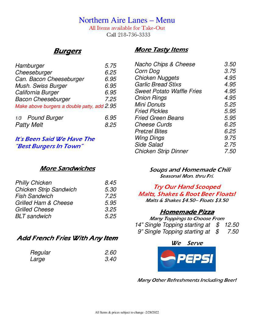 restaurant american food pizza burgers