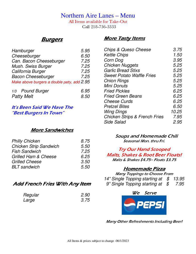 Restaurant, American Food, Pizza, Burgers